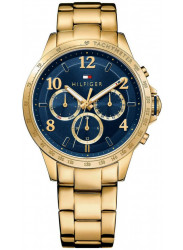 Tommy Hilfiger Women's Blue Dial Gold Tone Watch 1781643