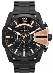 Diesel Men's Mega Chief Chronograph Black Dial Watch DZ4309