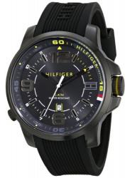 Tommy Hilfiger Men's Black Silicone Strap Watch 1791008