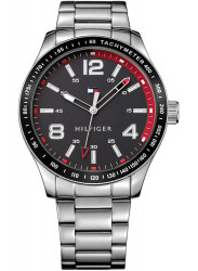 Tommy Hilfiger Men's Stainless Steel Black Dial Watch 1791178