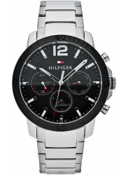 Tommy Hilfiger Men's Holden Black Dial Stainless Steel Watch 1791272