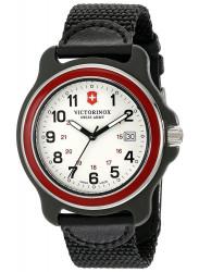 Victorinox Men's Original GMT White Dial Black Nylon Strap Watch 249088