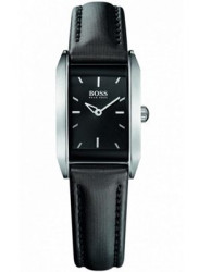 Hugo Boss Women's Black Dial Black Leather Watch 1502233