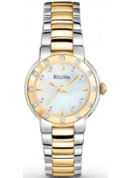 Bulova Women's Mother Of Pearl Dial Two Tone Watch 98R168