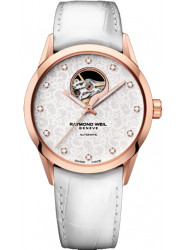 Raymond Weil Women's Freelancer Automatic White Dial White Leather Watch 2750-PC5-30081