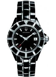 Accutron Men's Mirador Black Dial Two Tone Watch 28B87