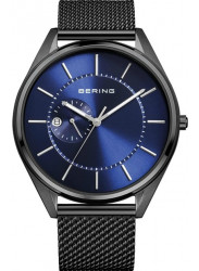 Bering Men's Automatic Blue Dial Stainless Steel Mesh Watch 16243‐227