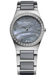 Bering Women's Grey Mother Of Pearl Dial Two Tone Ceramic Watch 32426-789