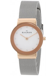 Skagen Women's Freja White Dial Mesh Watch 358SRSC