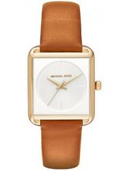 Michael Kors Women's Lake White Dial Leather Watch MK2584