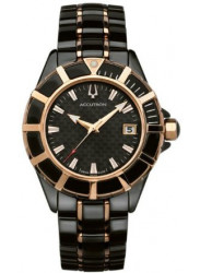 Accutron Men's Mirador Carbon Black Dial Two Tone Watch 28B194