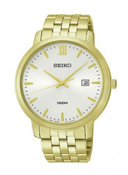 Seiko Mens Quartz Stainless-Steel Analog White Dial Watch