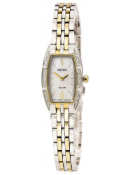 Seiko Women's Solar Mother of Pearl Dial Two Tone Watch SUP152