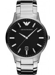 Emporio Armani Men's Sportivo Black Dial Stainless Steel Watch AR2457
