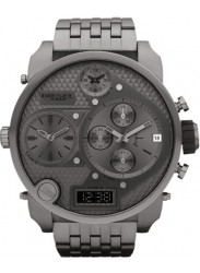 Diesel Men's Badass Oversized Chronograph Grey Dial Gunmetal PVD Watch DZ7247