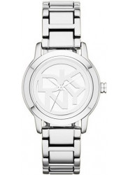 DKNY Women's Tompkins Silver Dial Silver Ion-Plated Watch NY8875