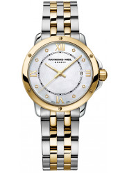 Raymond Weil Women's Tango Mother Of Pearl Dial Two Tone Watch 5391-STP-00995