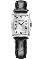 Raymond Weil Women's Tradition Silver Dial Black Leather Watch 5396-STC-00650
