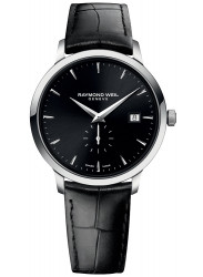 Raymond Weil Men's Toccata Black Dial Black Leather Watch 5484-STC-20001