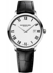 Raymond Weil Men's Toccata White Dial Black Leather Watch 5488-STC-00300