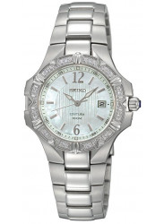 Seiko Women's Coutura Mother of Pearl Dial Silver Tone Watch SXDC33