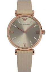 Emporio Armani Women's Retro Beige Leather Watch AR1681