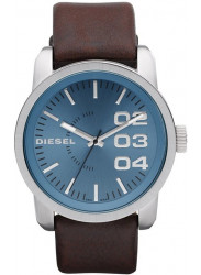 Diesel Men's Blue Dial Brown Leather Watch DZ1512