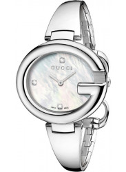 Gucci Women's Mother of Pearl Diamond Dial Watch YA134303