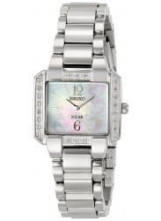 Seiko Women's SUP211 Diamond-Accented Stainless Steel Solar Watch