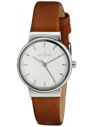 Skagen Women's Ancher Brown Leather Diamond Watch SKW2192