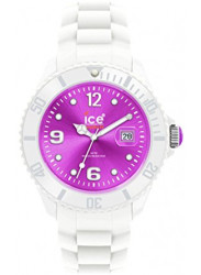 Ice Watch Unisex Ice-White Purple Dial White Silicone Watch SI.WV.B.S.10