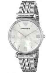 Emporio Armani AR1682 Women's Retro Quartz Watch with White Dial Analogue Display and Silver Stainless Steel Bracelet