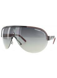 Carrera Unisex Oversized Semi Rim Black Red Sunglasses CARRERA 35 95K/DX