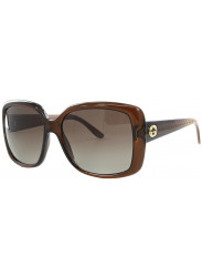 Gucci Women's Oversized Full Rim Dark Brown Sunglasses GG 3574/S W7L/LA