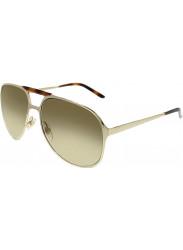 53e2fddf99e Gucci Unisex Aviator Full Rim Gold Tone Brown Sunglasses GG 2206 S J5G YY