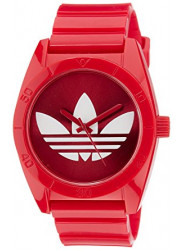 Adidas Unisex Santiago Red Silicone Watch ADH2655