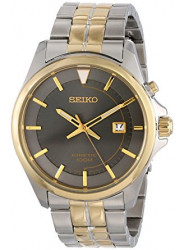 Seiko Men's Kinetic Grey Dial Two Tone Watch SKA582