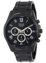 Pulsar Men's Chronograph Black Dial Black Tone Watch PT3401