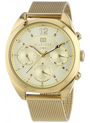 Tommy Hilfiger Women's Chronograph Gold Dial Gold Tone Watch 1781488