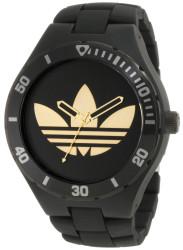 Adidas Men's Melbourne Black Plastic Quartz Watch with Black Dial