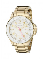 Marc By Marc Jacobs MBM3408 Dizz Sport White Dial Gold-tone Watch