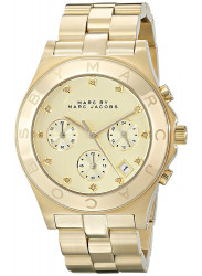Marc by Marc Jacobs Women's Blade Chronograph Gold Tone Watch MBM3101