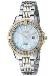 Seiko SUT072 Solar Diamond Analog Womens Stainless Watch
