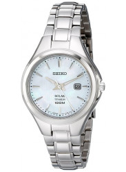 Seiko Women's Solar Mother of Pearl Dial Titanium Watch SUT205