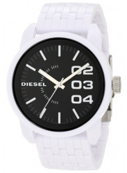 Diesel Men's Black Dial White Silicone Watch DZ1522