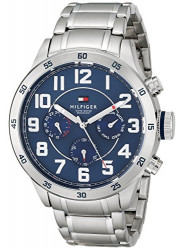 Tommy Hilfiger Men's Blue Dial Stainless Steel Watch 1791053