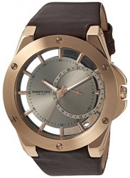 Kenneth Cole Men's New York Skeleton Dial Brown Leather Watch 10030786
