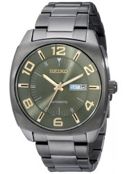 Seiko SNKN35 Analog Display Automatic Green Dial Day Date Men's Watch