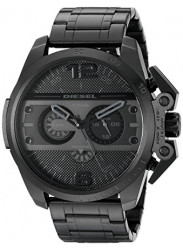 Diesel Men's Ironside Chronograph Black Ion-plated Watch DZ4362