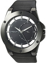 Kenneth Cole Men's New York Skeleton Dial Black Leather Watch 10030785